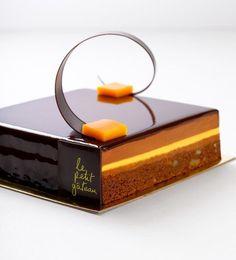 LePetitGateau - Brownie and Passionfruit Chocolate Gâteau by LePetitGateau