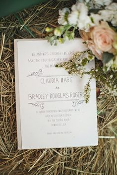 simple wedding invitation | Paperlily Photography - wish-upon-a-wedding