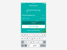 Greenhouse for iOS - Login Animation