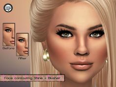 TSR:MP Face contouring+blush • The Sims 4 CC