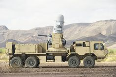 Ground-based Phalanx CIWS - Designed to knock rockets and mortars