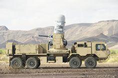 Ground-based Phalanx CIWS - Designed to knock rockets and mortars