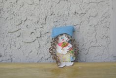 Little handmade doll Recycled fabric doll Small by BBBsDesigns, $12.00