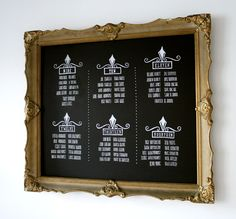 Table Seating Chart. Wedding Chalkboard. Chalkart. www.thechalkartist.com.