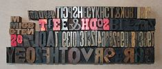Letterpress Mixed Letters and Numbers