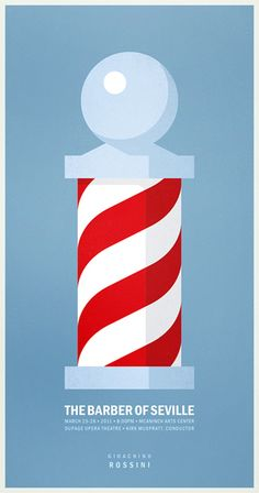 A minimalist poster for The Barber of Seville