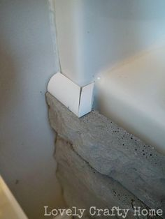 Easily update your boring built-in bathtub with airstone. Built In Bathtub, Diy Bathtub, Mold In Bathroom, Bathrooms, Bathtub Tile, Condo Bathroom, Small Bathroom, Budget Bathroom, Bathroom Renovations