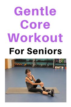 This senior ab workout gently firms the core and builds strength while releasing tension and pain in the lower back. This ab workout for seniors will strengthn your core, help ease low back pain, aid in balance, and even improve your posture. Fitness Workout For Women, Body Fitness, Physical Fitness, Fitness Tips, Health Fitness, Fitness Plan, Fitness Style, Health Club, Fitness Quotes