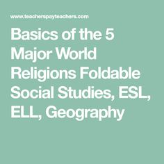 Cross cultural activities helping students with acculturation basics of world religions foldable social studies esl ell geography fandeluxe Gallery