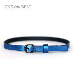 Toddler Girl's Belt Cobalt Metallic Faux Leather by ONElittleBELT