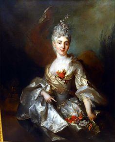 Nicolas de LARGILLIERE Paris, 1656 – Paris, 1746 Portrait de femme, dit « l'Intendante » Huile sur toile Don Lennel, 1922