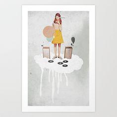 ON / ... | Collage Art Print by Ju. Ulvoas - $17.00