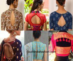 blouse designs Latest saree blouse designs for diwali sarees like cut out blouses, dori, velvet, brocade, pearl and golden blouse. Saree Blouse Neck Designs, Simple Blouse Designs, Stylish Blouse Design, Choli Designs, Bridal Blouse Designs, Latest Blouse Designs, Dress Designs, Saris, Diwali