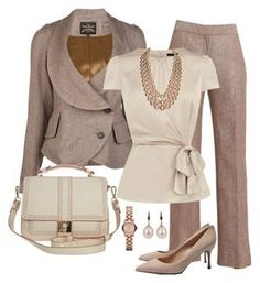"""""""Job Interview"""" by kp802 ❤ liked on Polyvore featuring Vivienne Westwood Anglomania, Lafayette 148 New York, Coast, Orla Kiely, Chanel, Sergio Rossi, Marc by Marc Jacobs, pearl necklaces, black and white shoes and cream"""