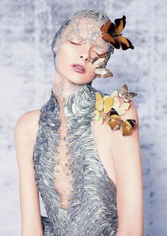 Alexander McQueen photographed by Ben Toms for Dazed and Confused, 2012. Model: Elza Luijendijk.