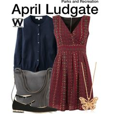 Inspired by Aubrey Plaza as April Ludgate on Parks and Recreation.