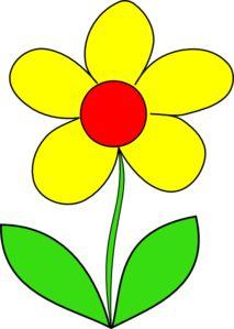 Yellow Flower Clip Art Clip art Flower clipart Art drawings for kids