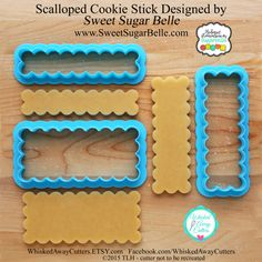 Cookie sticks are so much fun and I love this version designed with Callye of Sweet Sugar Belle. You will find fun cookie examples coming up Shapes And Curves, Basic Shapes, Cookie Sticks, Rose Cookies, Candy Shop, Cookie Cutters, Cookie Stamp, Christmas Cookies, Christmas Ornaments