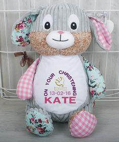 Personalised Bunny Personalised Teddy Bears, Bunny, Dolls, Personalized Teddy Bears, Rabbit, Doll, Baby, Rabbits, Girl Dolls