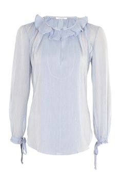 Cotton-Blend Frilled Blouse by Carven | Buy from Carven online at London Boutiques