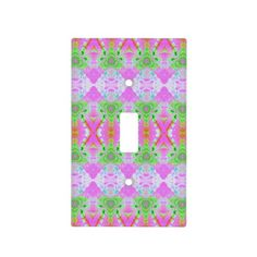 Pretty Pastel Pink abstract pattern design Light Switch Plates