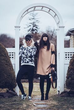 looksly - @flacavasotti e @ketherin em NY com moletom, saia e vestido do Inverno 2016