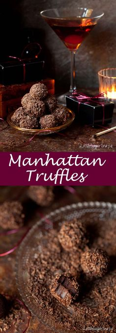 These Manhattan Truffles are bold in flavour, downright boozy, brilliantly well balanced & mellow. They bring out the best of whisky & chocolate together.
