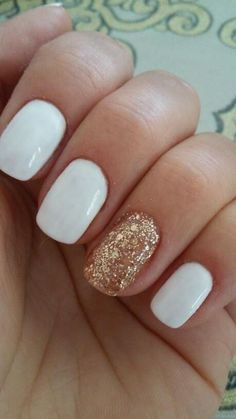 15 Ideas nails gel short ring finger My Style New Nail Designs, White Nail Designs, Short Nail Designs, Acrylic Nail Designs, Acrylic Nails, Design Ongles Courts, Manicure, Short Gel Nails, White Short Nails