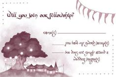 Lord of the Rings Wedding Invitations by AwkwardAffections on Etsy, $40.00  IS IT BAD THAT I REALLY WANT THESE...? LMAO!
