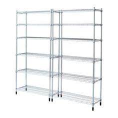 IKEA - OMAR, 2 sezioni, Facile da montare: non servono attrezzi.È stabile anche sui pavimenti irregolari, grazie ai piedini regolabili.