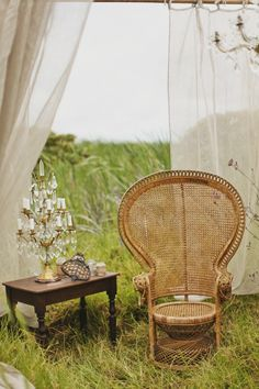 Peacock chair soft draping // woven chair // boho // basket chair // peacock chair for garden