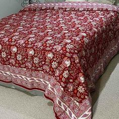 Blue Floral Quilted Bed Sheet is made from the softest cotton. Double sided, utilising two layers of cotton cloth, with very light cotton wadding in the centre. Double Bed Sheets, Soft Bed Sheets, Bed Sheet Sets, King Beds, Queen Beds, Cotton Bedding, Cotton Lights, Comforters, Centre