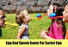 Egg And Spoon Game For Easter Egg
