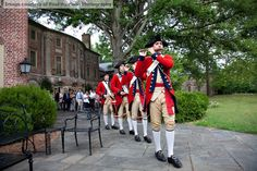Fife and Drum Performing Behind the Williamsburg Inn