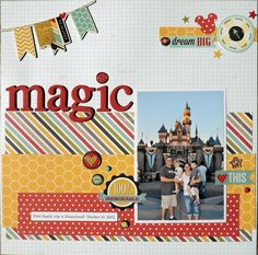 #papercraft #disney #scrapbook #layout Magic - Scrapbook.com