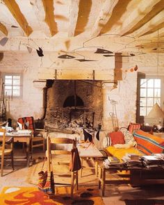 Bohemian Dream Space    The Living Room of  Alexander Calder, the photograph is from his book Calder at Home
