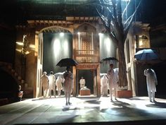 the most beautiful minimalistic set I've ever seen Royal Shakespeare Company, Much Ado About Nothing