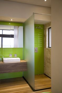 House Serengeti | Colour | Nico van der Meulen Architects | M Square Lifestyle Design | #Bathroom #Colour #Green #Contemporary #Spring