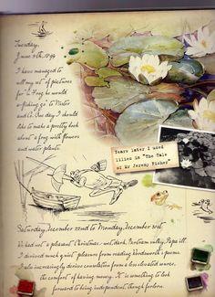 Little Bear Studio: Beatrix Potter ~ A Journal Peter Rabbit Books, Peter Rabbit And Friends, Tales Of Beatrix Potter, Beatrix Potter Illustrations, Beatrice Potter, Nature Journal, Children's Book Illustration, Altered Books, Collages