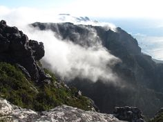 In between the 12 Apostles Mountain Range, Table Mountain, Cape Town