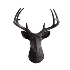Amazon.com: Deer Head by Wall Charmers | White Faux Head Mount Bust Fake Animal Resin Sculpture Taxidermy Stag Buck Antler Fauxidermy Mounted Taxidermied Replica Decor Art: Home & Kitchen