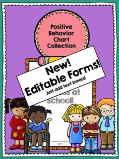$ Positive Behavior Chart Collection Behavior management is tricky! This collection of charts, lists, and notes are perfect with students with IEP's, or simply for reinforcing positive behavior.