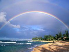 Double Rainbow over Kauai, Hawaii