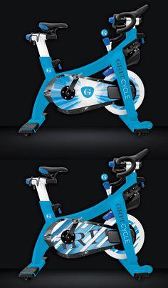 GRIT's Custom Indoor Cycles bike for new studio in Monarch Beach, January 2017 Paint Bike, Adult Tricycle, Indoor Cycling Bike, Custom Design, Logo Design, Spin Bikes, Spinning, Custom Paint, Bicycle