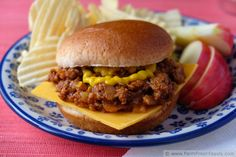 Beef and Venison Sloppy Joes with Yellow Squash and Peppers by Farm Fresh Feasts