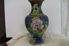 Chinese Style Cloisonne Vase Free Shipping by TimeWarpTreasures, £25.00  #DecorbyMe @Debbie Arruda Fortner Rent.com