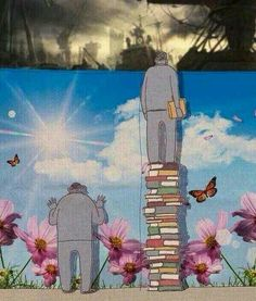 Funny pictures about Books show you the truth. Oh, and cool pics about Books show you the truth. Also, Books show you the truth. Meaningful Pictures, Powerful Pictures, Graffiti, Satirical Illustrations, Deep Art, Arte Obscura, Social Art, Political Art, Wow Art