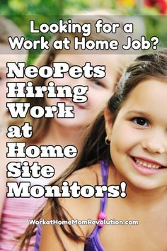 JumpStart Games is hiring work at home website monitors for NeoPets. These are full-time work at home positions monitoring the site to help keep it safe for participants. Awesome work from home positions! If you're seeking a home-based job, Work at Home Mom Revolution is the place to start! You can make money from home!