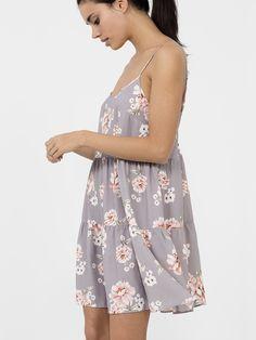 GREY VINTAGE FLORAL LACE BACK #DRESS