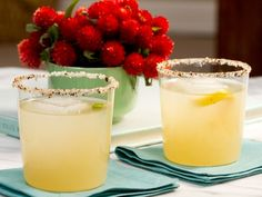 The smoky flavor of chipotle powder-seasoned salt on the rim of the glass complements the bright flavor of grapefruit juice in Geoffrey's go-to Grapefruit Margarita.
